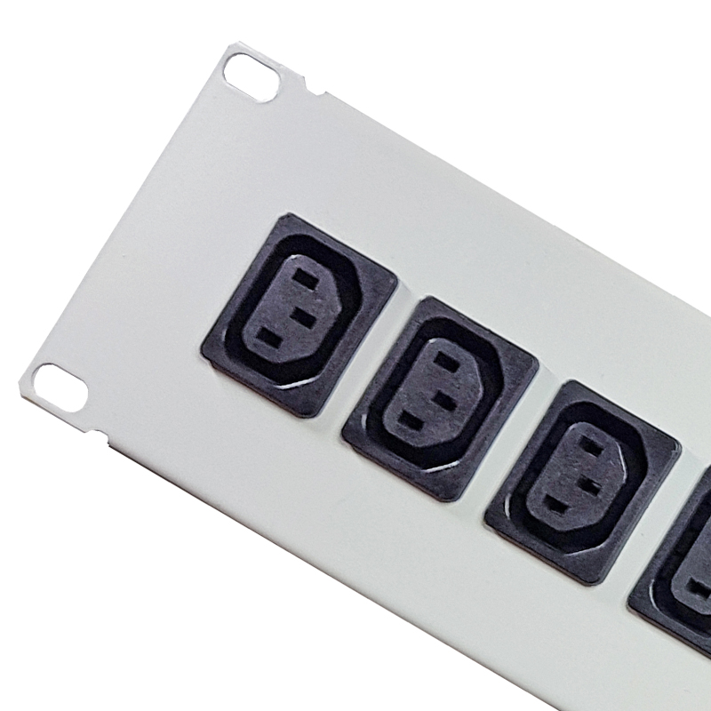 IEC C13 Sockets - 19 Inch Powder Coated Rack Mountable Casing