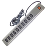 1022IEC/GB 10 Way IEC ABS+AL - Wired Lead - UK Plug