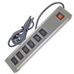 602IEC/GBA - 6 Way IEC ABS+AL - Wired Lead - UK Plug