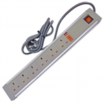 632GBA - 6 Way ABS - Wired Lead - UK Plug