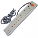 633GBA - 6 Way ABS - Wired Lead - UK Plug